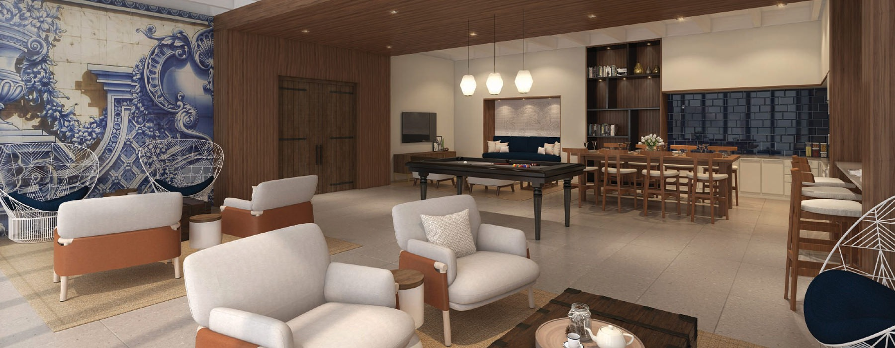 Resident Game Room and a pool table and lounge seating